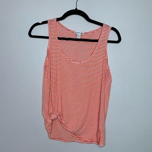 Lacoste Striped Scoop Neck Tank Top Size Small